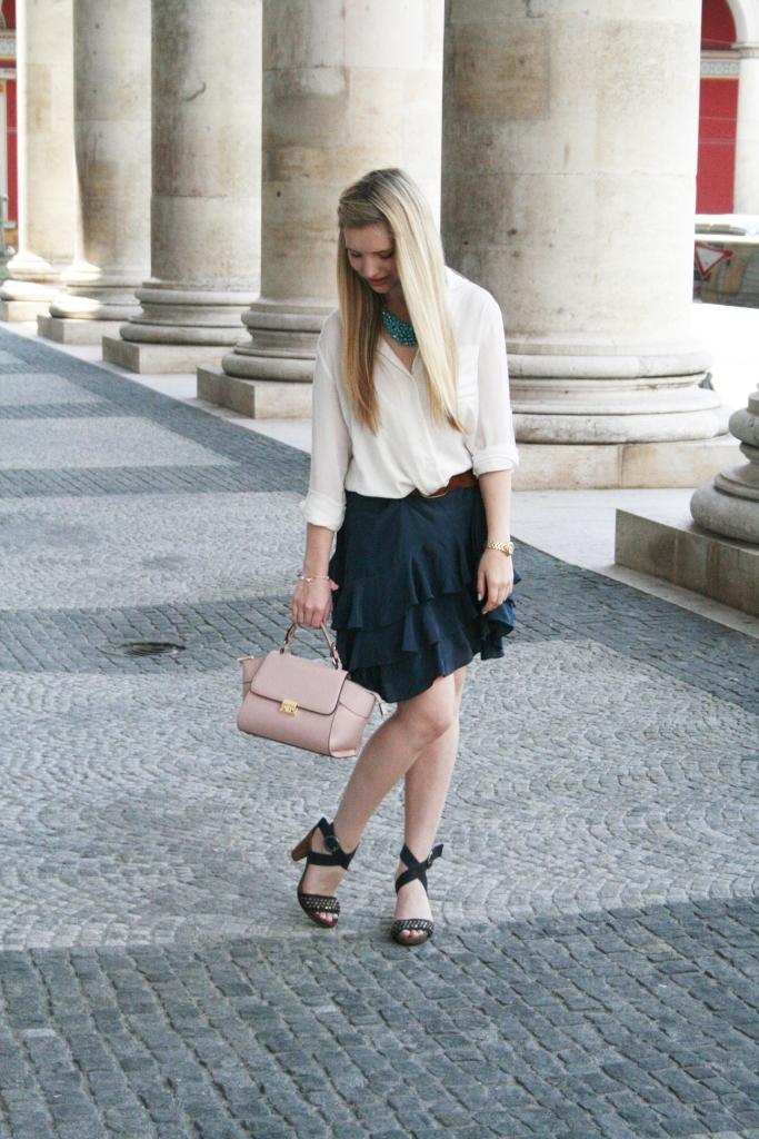 Dullylicious Franziska Dully Rock Mexx Skirt Sommer 2015 München Blogger Fashion Look Frühling Tasche