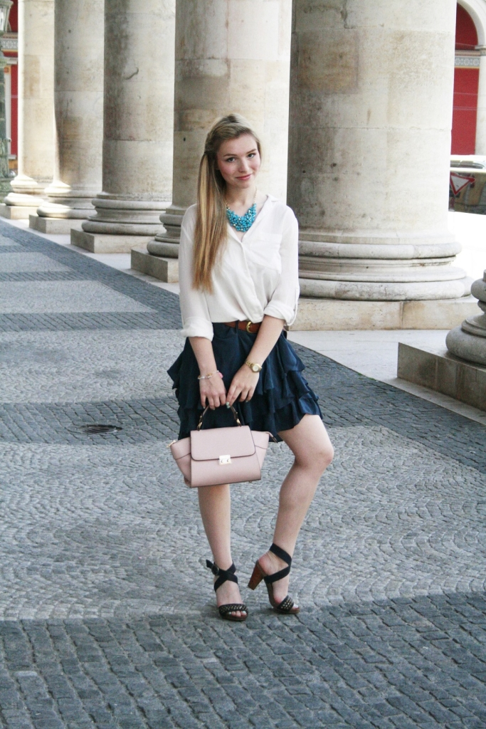 Dullylicious Franziska Dully Rock Mexx Skirt Sommer 2015 München Blogger Fashion Look Frühling Tasche. Accessoires Style