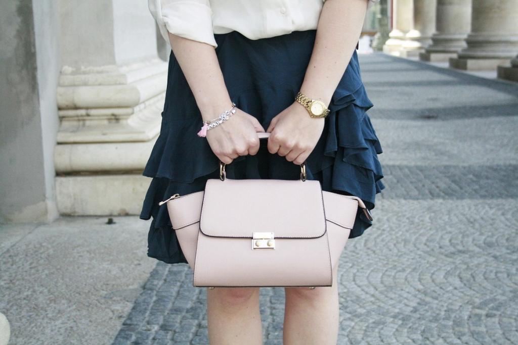 Dullylicious Franziska Dully Rock Mexx Skirt Sommer 2015 München Blogger Fashion Look Frühling Tasche. Details Rosa hübsch süß
