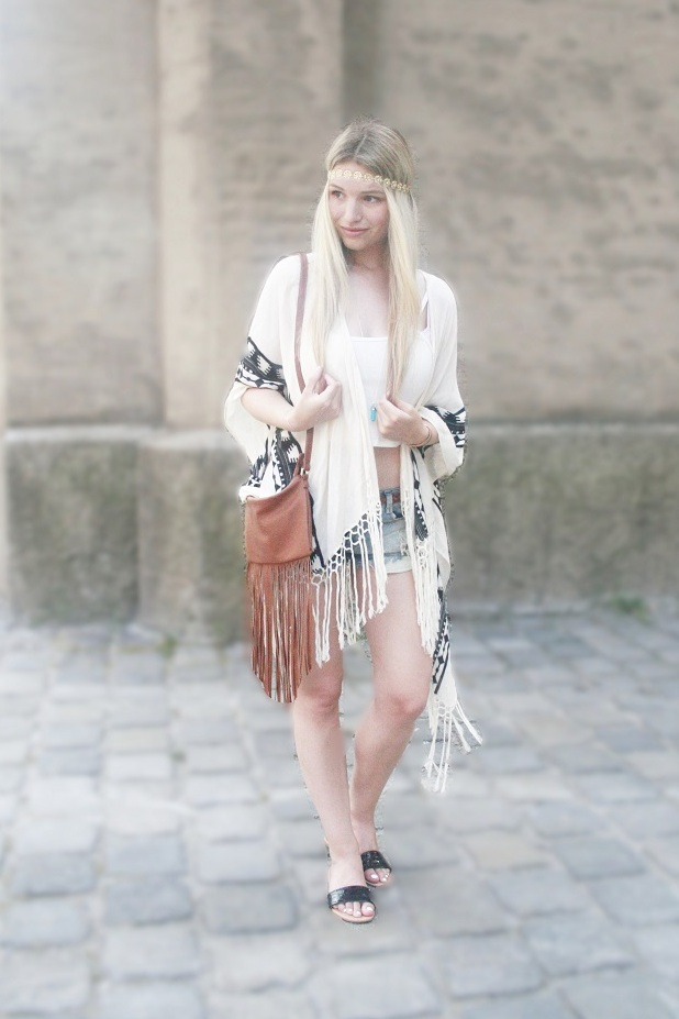 Franziska Elea Mode 2015 Sommertrend Hippie Boho Haarband Outfit Blogger