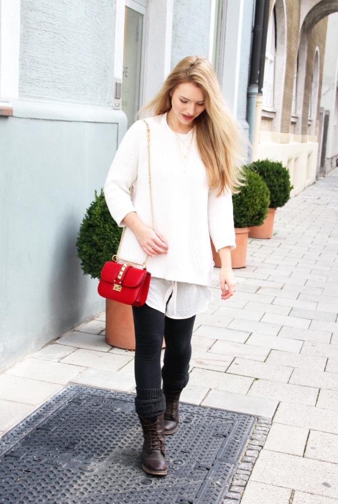 Deutsche Modeblogger kleine Tasche Layering Look
