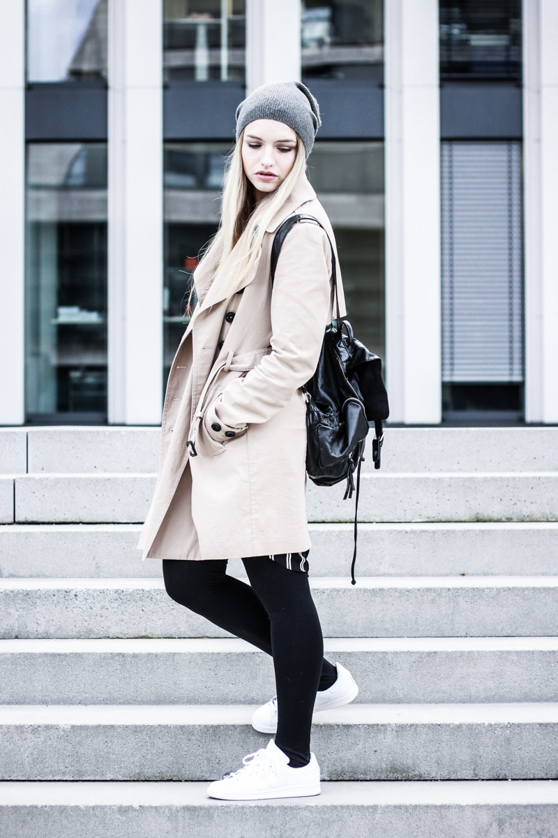 Franziska Elea Fashion Blog München Trenchcoat Mango deutsche Blogger Modeblog Mütze Winter Look Outfit ootd Style Mode Berlin beige Trench Coat Beanie Fashionblogger