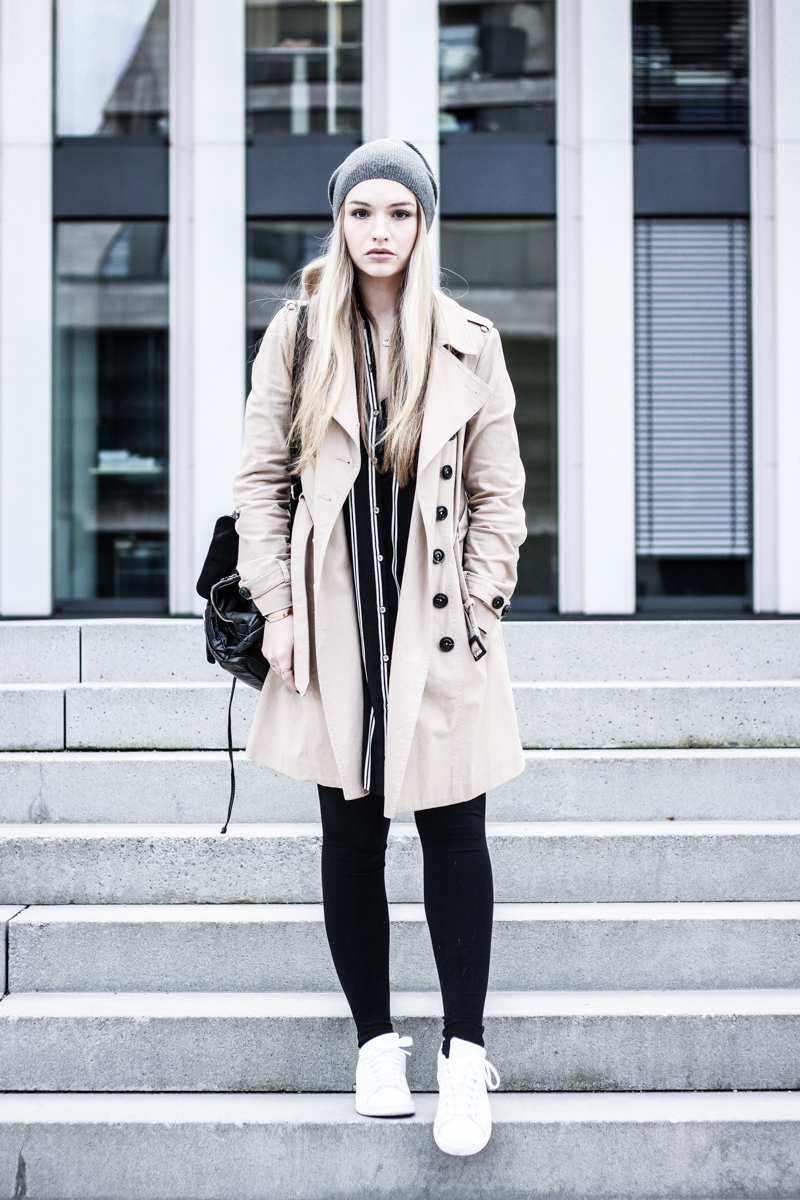 Franziska Elea Fashion Blog München Trenchcoat Mango deutsche Blogger Modeblog Mütze Winter Look Outfit ootd Style Mode Berlin beige Trench Coat Beanie