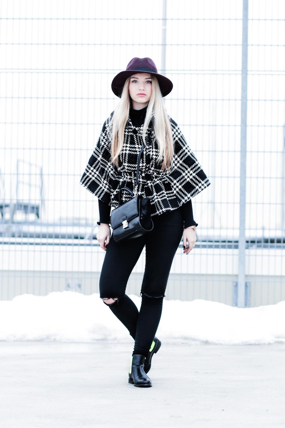 Hut Primark Serfan Chelsea Boots, Cape Poncho Fashionblog Modeblog Fashionblogger Modeblogger München Berlin Lifestyleblog