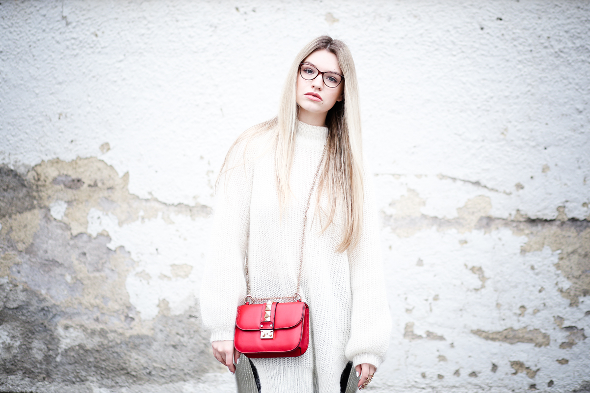 Franziska Elea Mode Blog München ootd Outfit Look Style Fashionblogger Modeblogger Berlin Edited Zara High Heels Valentino Rockstud Oversize Pullover Wolle