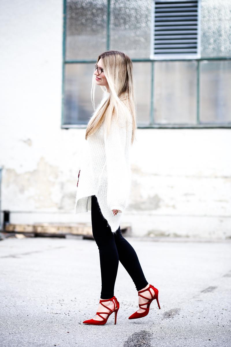 Franziska Elea Mode Blog München ootd Outfit Look Style Fashionblogger Modeblogger Berlin Edited Zara High Heels Valentino Rockstud Oversize Strickpulli Blogger Instagram