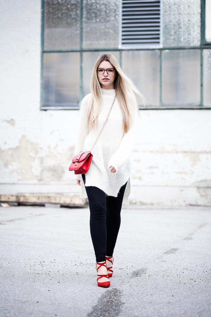 Franziska Elea Mode Blog München ootd Outfit Look Style Fashionblogger Modeblogger Berlin Edited Zara High Heels Valentino Rockstud Oversize Strickpulli Blogger