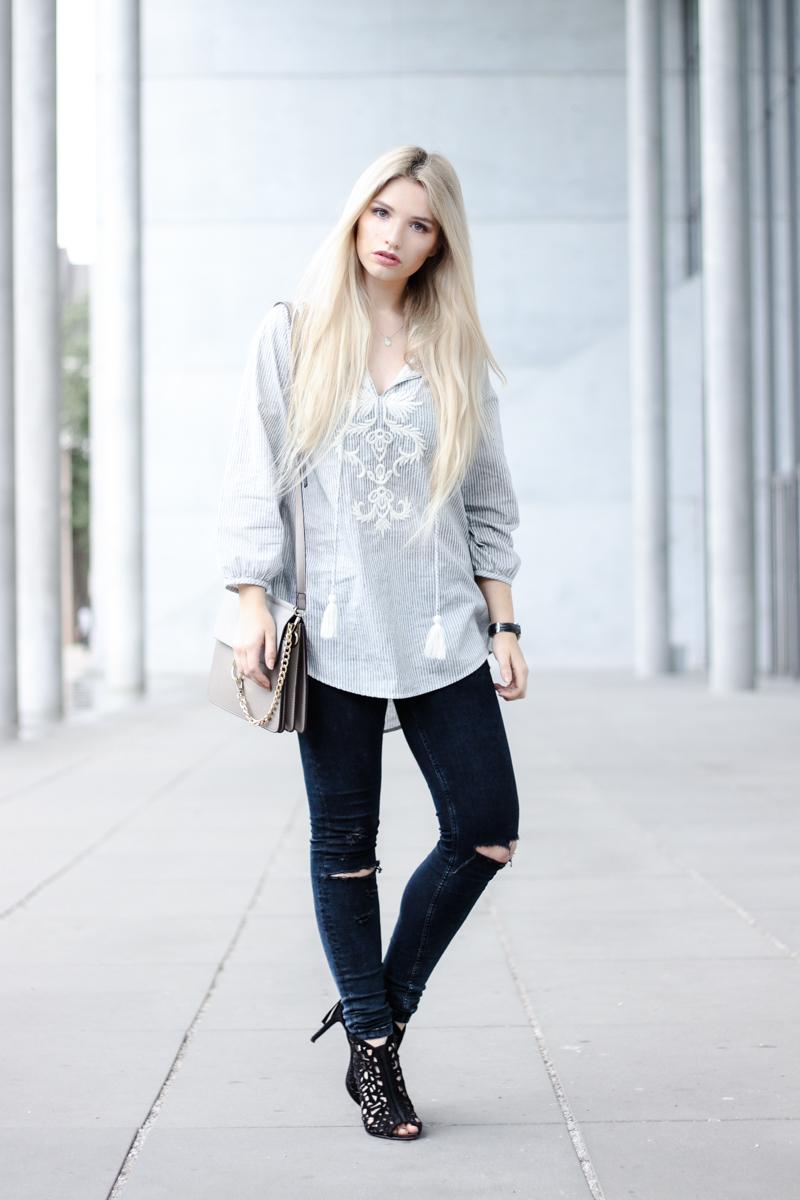 Franziska Elea Blogger München Modeblogger Instagram Fashion Blog MBFW Fashion Week Vorbereitung Berlin Streifen Zara Look ootd