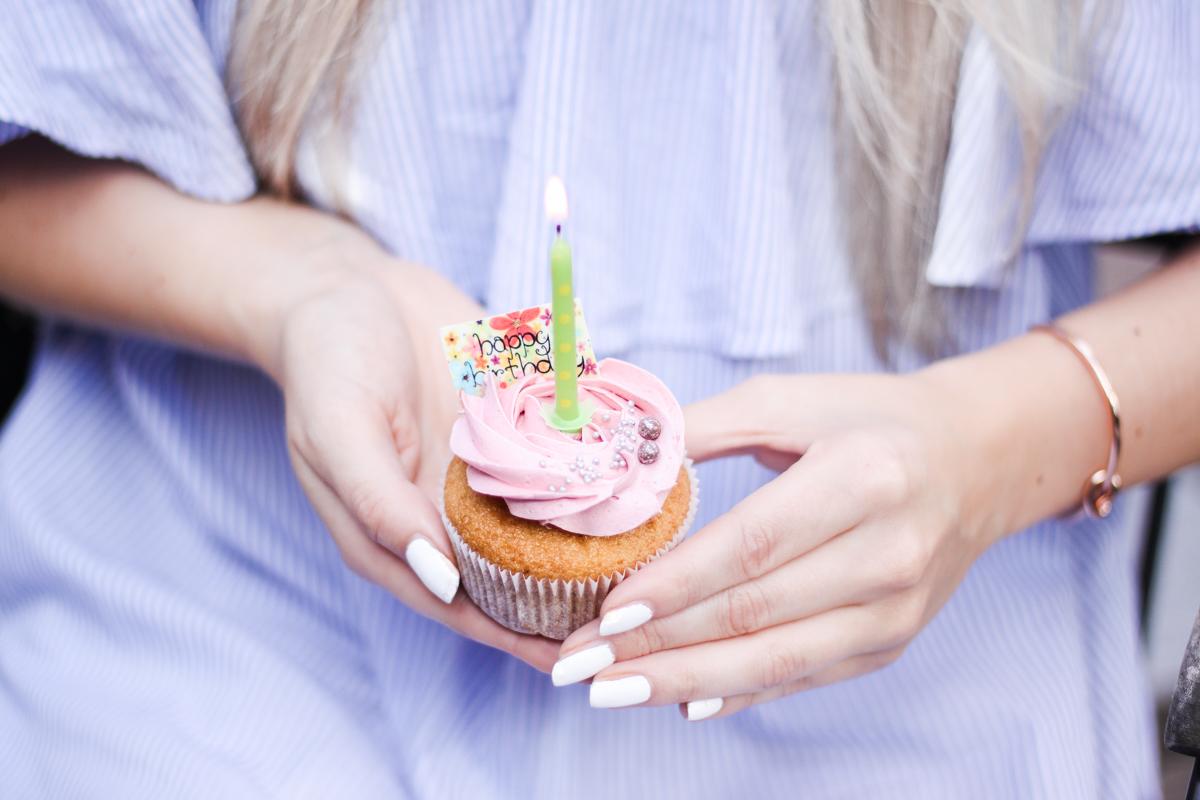 Franziska Elea deutsche Blogger München Modeblogger Instagram Geburtstag Cupcake Foodporn rosa Muffin backen Kuchen Geburtstagstorte Törtchen