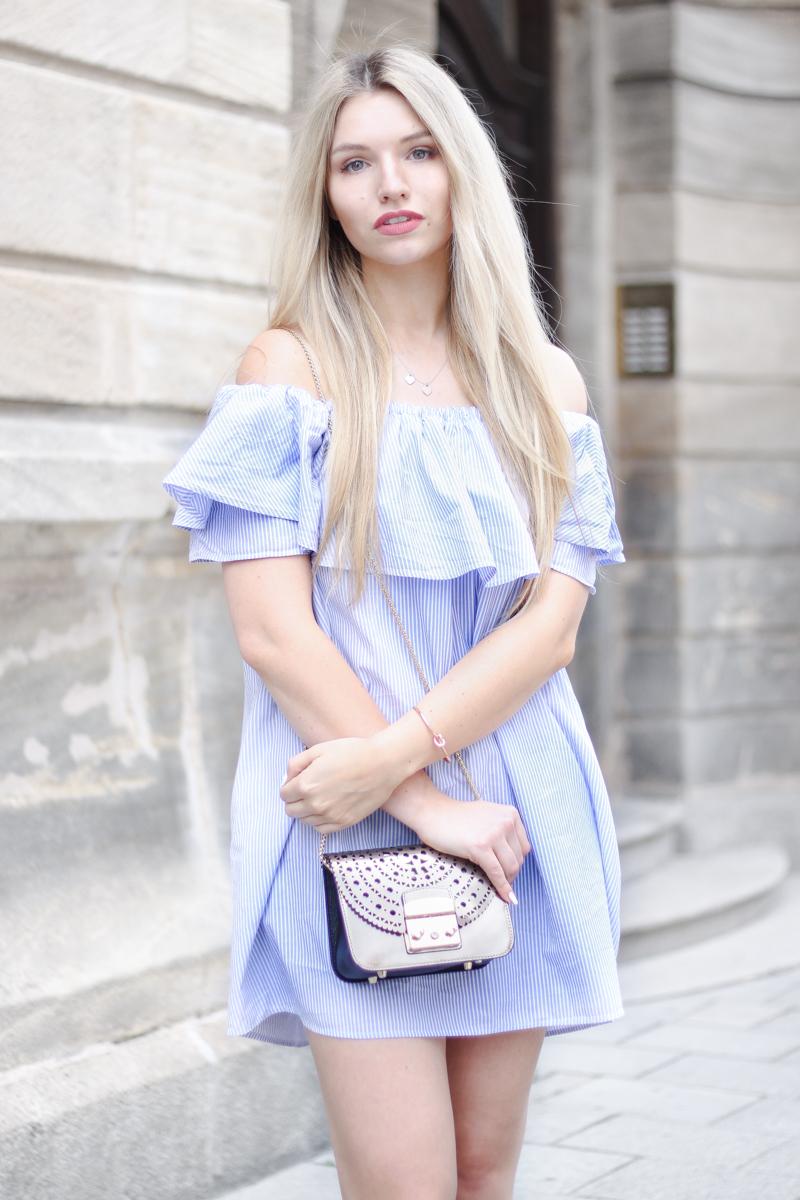 Franziska Elea deutsche Blogger München Modeblogger Instagram Off Shoulder Kleid Zara Furla Metropolis Fashionblog perfekt kombiniert Tipps Tricks Mode