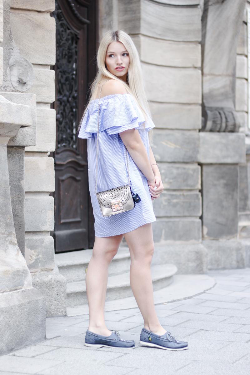 Franziska Elea deutsche Blogger München Modeblogger Instagram Off Shoulder Kleid Zara Furla Metropolis Styling Tipps Fashionblog
