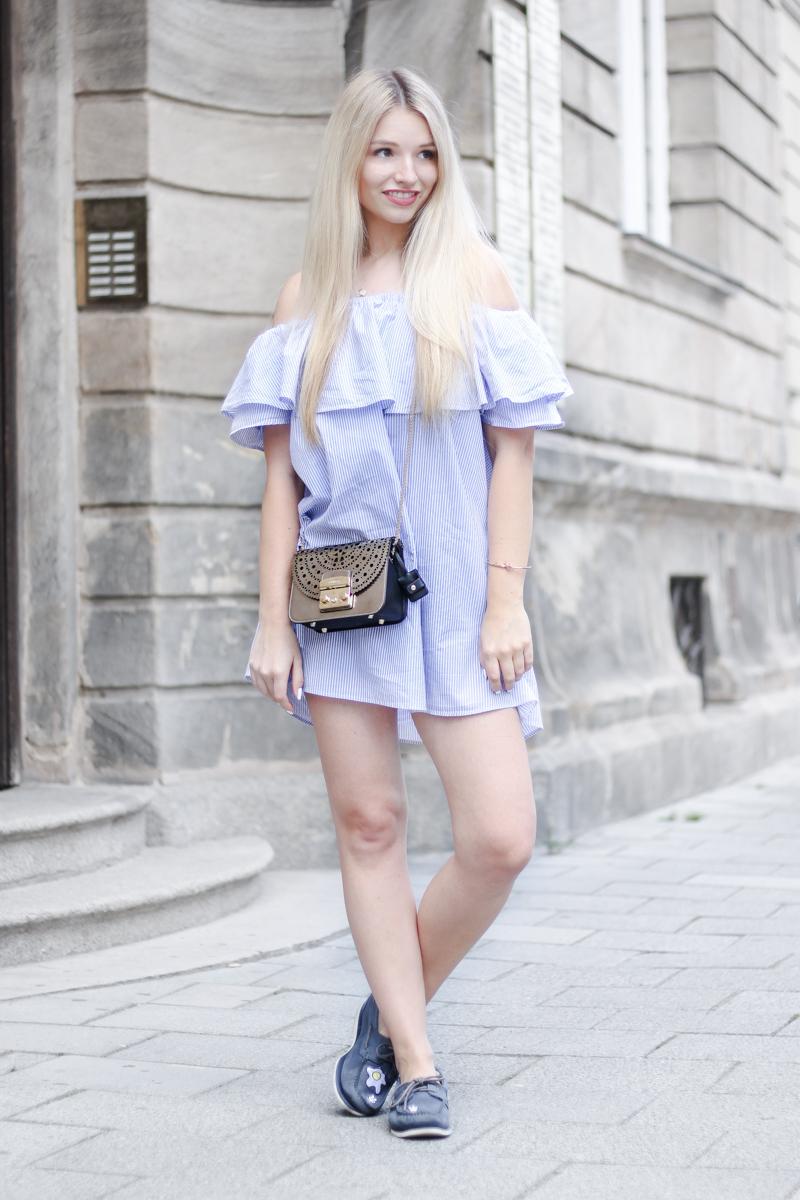 Franziska Elea deutsche Blogger München Modeblogger Instagram Off Shoulder Kleid Zara Furla Metropolis Styling Tipps