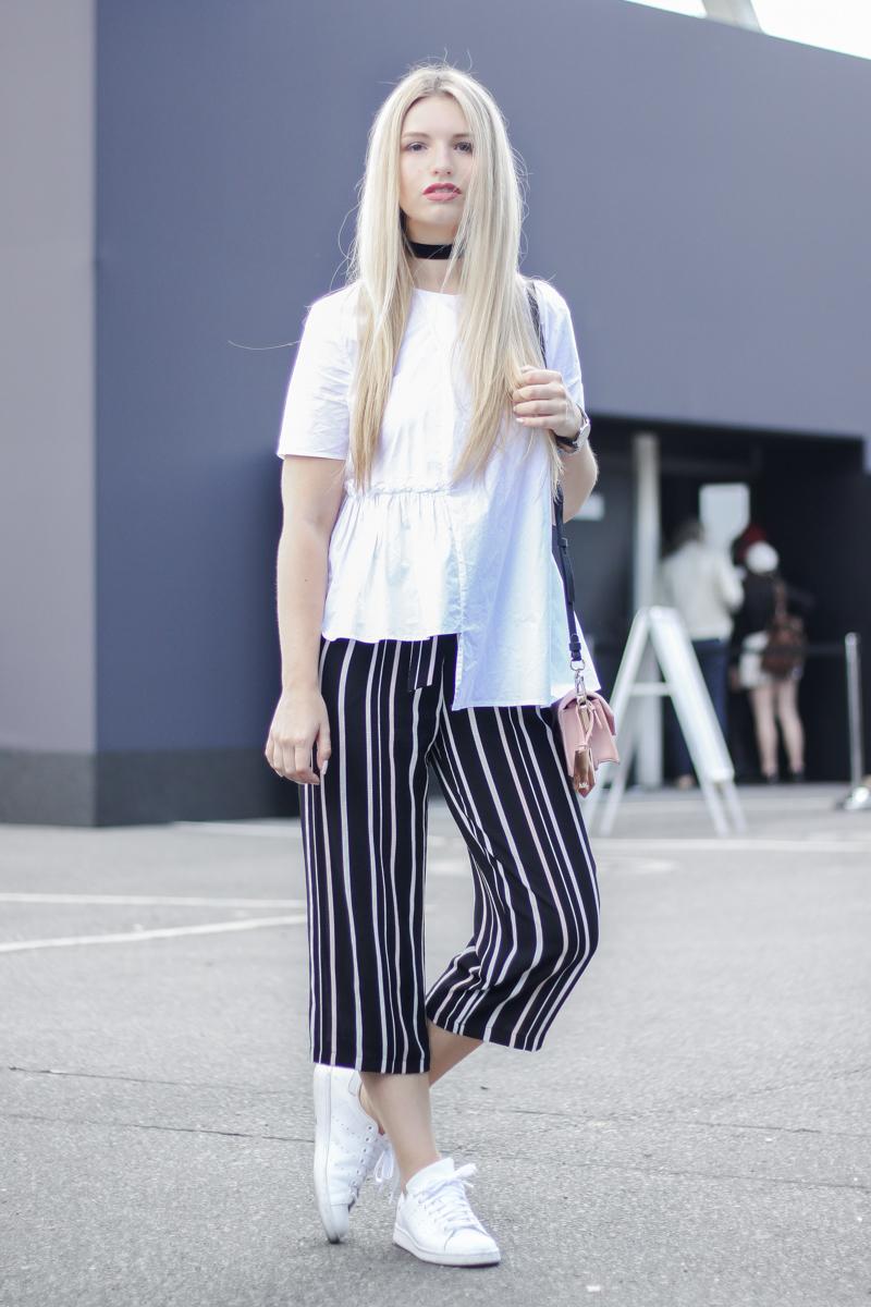 Franziska Elea deutsche Blogger Inspo Modeblog München Fashionblog Mercedes Benz Fashion Week Berlin Outfit Look Streetstyle Culotte Adidas