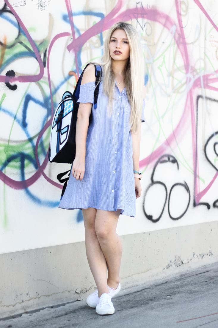 Franziska-Elea-deutsche-Blogger-Modeblog-Fashion-Blog-München-Kleid-Sommer-Bluse-Outfit-ootd-Sommerlook-Rucksack-Superga-Sneakers-Style