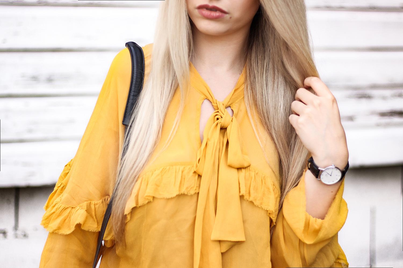 Franziska-Elea-deutsche-Blogger-Modeblog-Fashionblog-München-Zara-Details-Blog-Fashion-kombinieren-Daniel-Wellington-senfgelb-Mode-Tasche-MCM