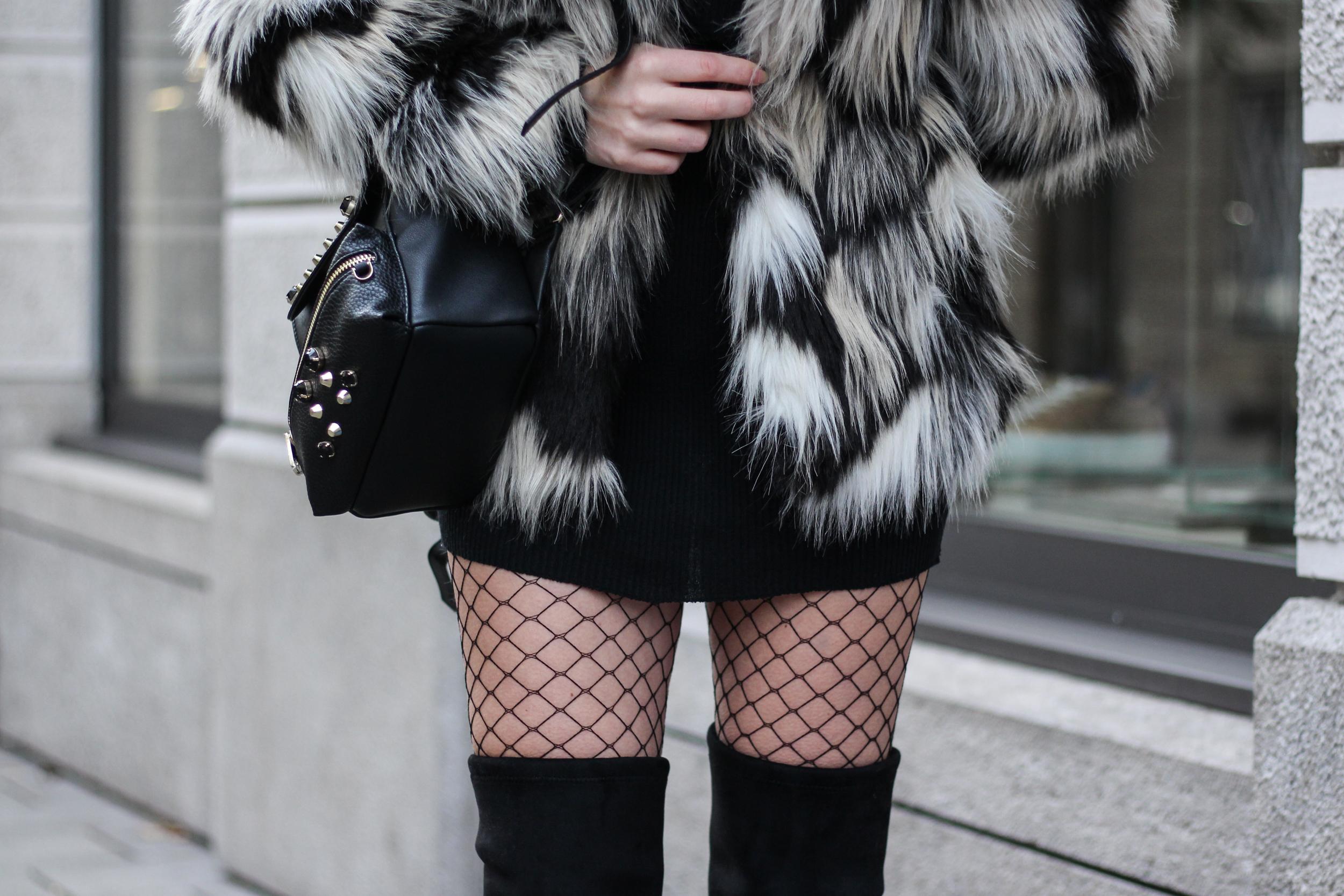franziska-elea-blogger-aus-muenchen-fake-fur-jacke-netzstrumpfhose-overknee-stiefel-guess-lederrucksack-minirucksack-strumpfhose-kariert-details