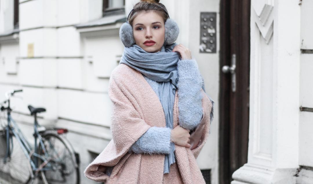 Mantel in pastellfarben